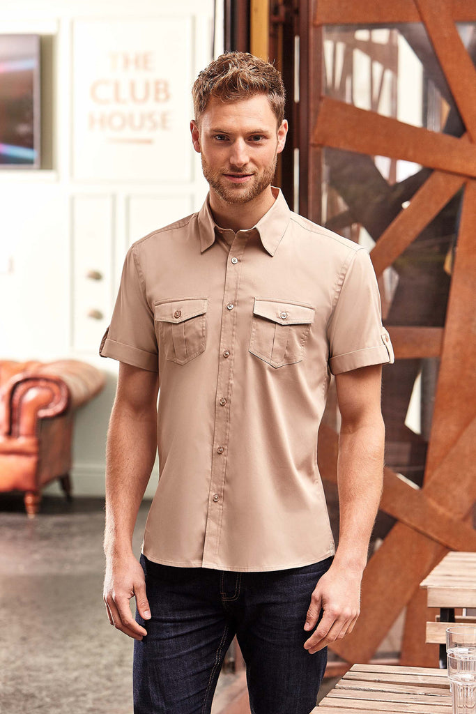 Men's Roll Sleeve Shirt - Short Sleeve - Shirts4All NL
