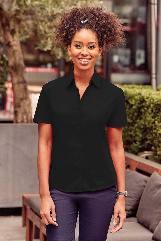 Ladies' Ss Polycotton Poplin Shirt - Shirts4All NL