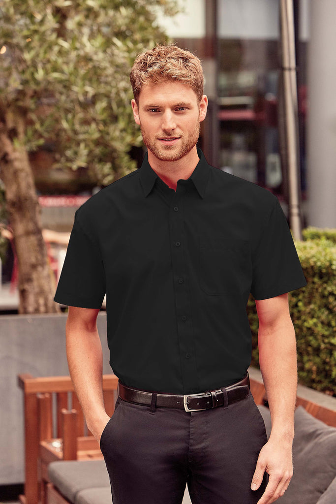 Men's Ss Polycotton Poplin Shirt - Shirts4All NL