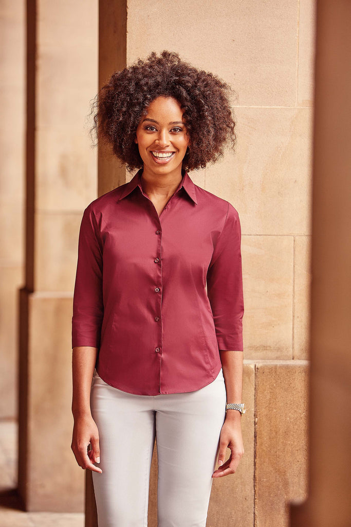Ladies' 3/4 Sleeve Easy Care Fitted Shirt - Shirts4All NL