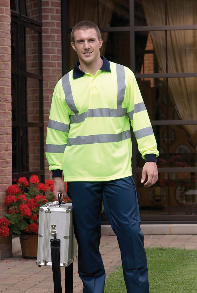 High Visibility Long Sleeve Polo Shirt - Shirts4All NL