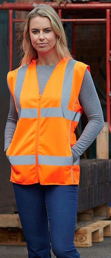 Hi-Vis ladies' executive waistcoat - Shirts4All NL