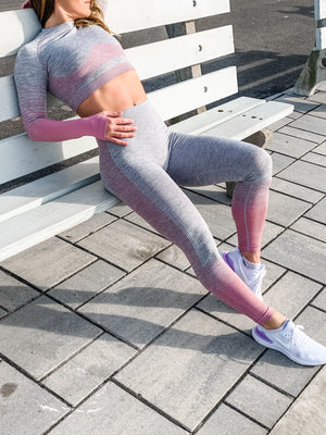 Gray & Ombré High Waist Leggings - 3 color options