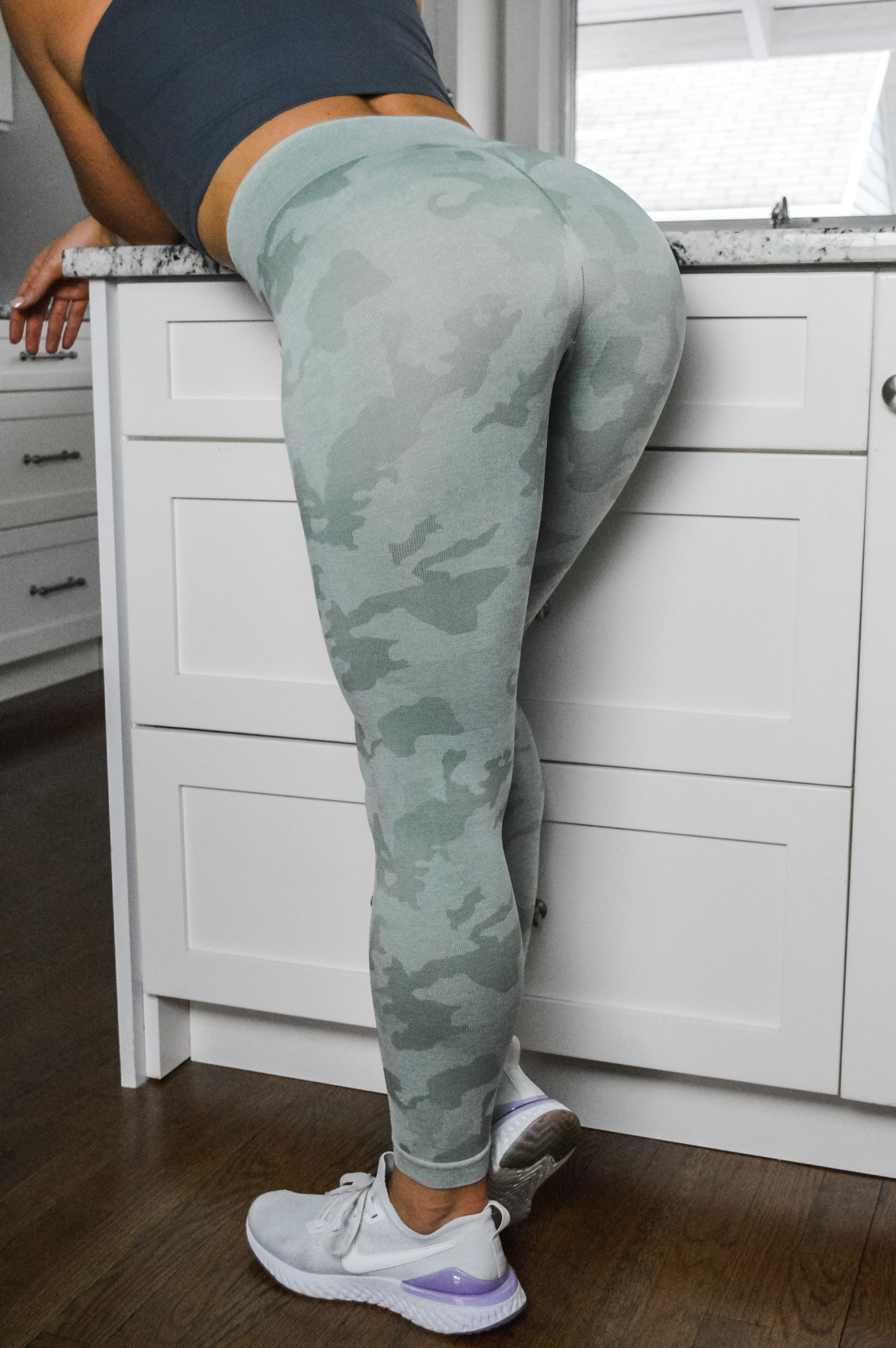 Strong Like A Soldier Camo Seamless Leggings - 4 color options