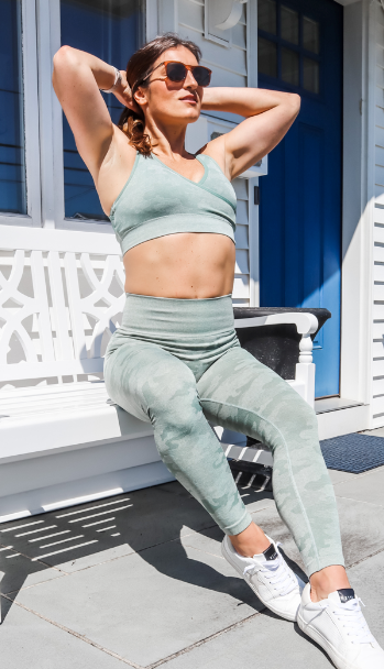 Strong Like A Soldier Camo Seamless Sports Bra - 3 color options