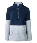 Fluffy Fleece Half Zip Pullover - 8 color options