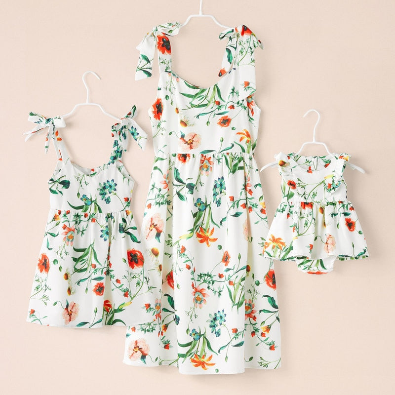 Floral Mother & Daughter Matching Dresses