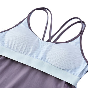 X Marks The Spot Tank With Built-In Bra - 4 color options