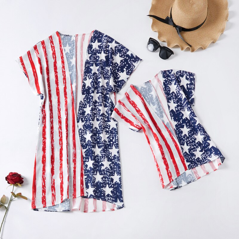 American Girls Matching Beach Cover-Ups