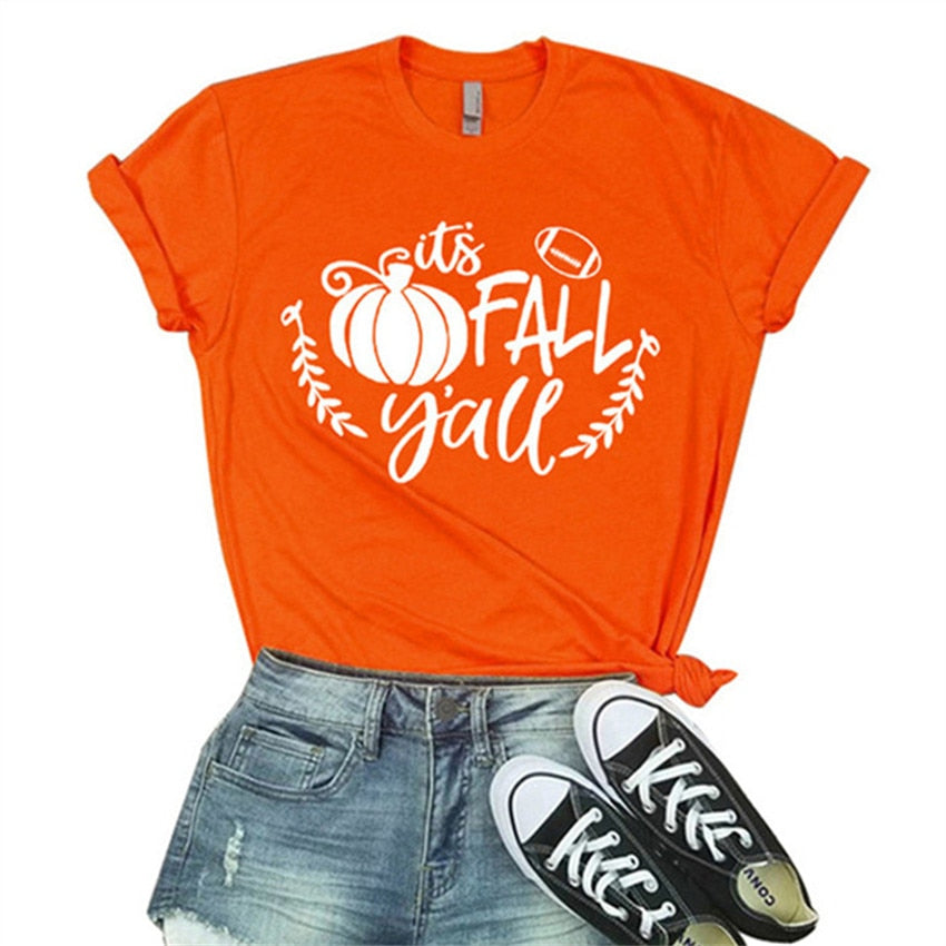 It's Fall Y'all Pumpkin T-Shirt