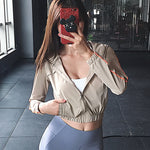 Military Style Crop-Top Hooded Jacket - 3 color options