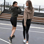 Nuts For Neutrals Hooded Crop-Top Sweatshirt - 2 color options