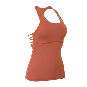 Cross-Back Tank With Built-In Bra - 2 color options