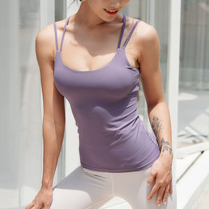 Cross Back Strappy Tank - 4 color options