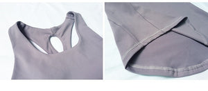 Cross Back Tank With Built-In Bra - 3 color options