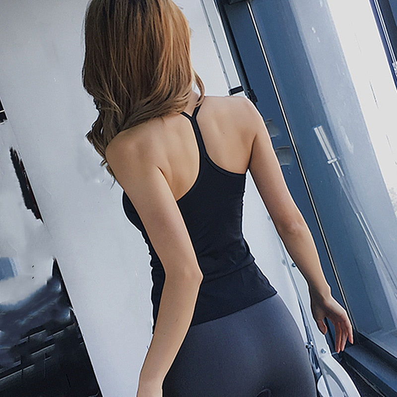 Classic Racerback Tank With Built-In Bra - 2 color options