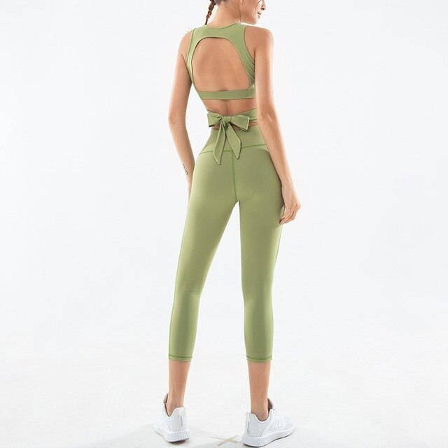 Bandage Top & Leggings Set - 3 color options