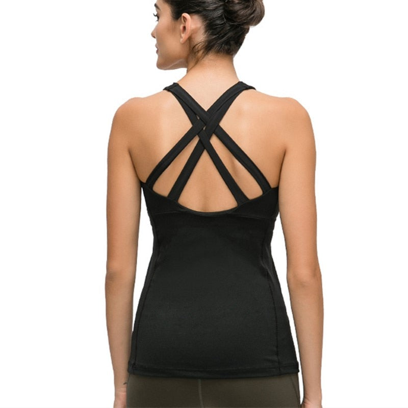 Cross Strap Full Coverage Tank - 4 color options