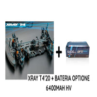 XRAY T4'20 + Batería OptiOne 6400mAh 120C 7,6V