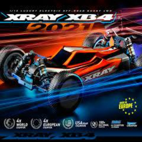 XRAY XB4 - 2021 SPECS - 4WD 1/10 ELECTRIC OFF-ROAD CAR