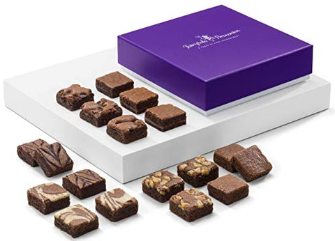 Belgian Gourmet Brownie Morsel Chocolate Box - roseybunch.com