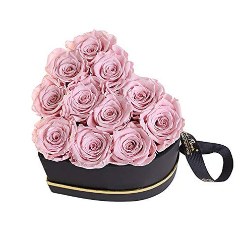 Blush Preserved Rosey Bunch Luxury Rose Box - novarianceations.com