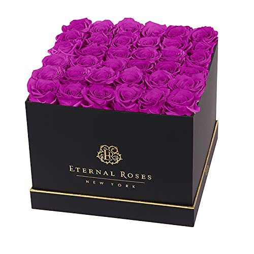 Black Box Preserved Rose Bunch Luxury Rose Box