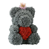 Royal Crowned Rosey Bunch Rose Bear Box