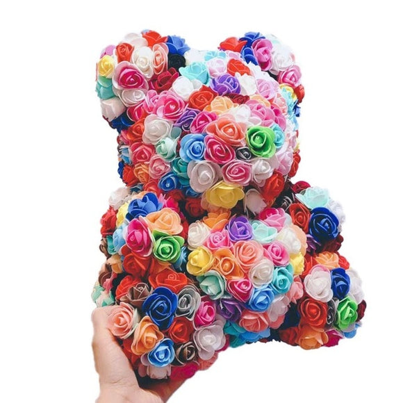 Bulky Modern Day Rosey Bunch Rose Bear Box