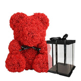 Traditional Plush Rosey Bunch Rose Bear Box