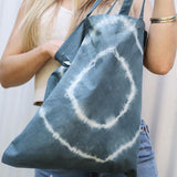Organic Cotton Hand Dyed 'Slate' Forage Tote