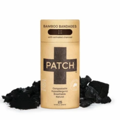 Charcoal Bamboo Bandages - Tube of 25