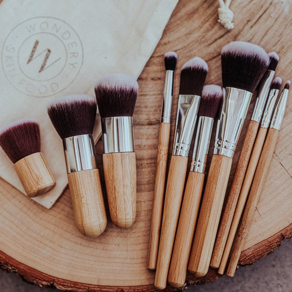 Natural Bamboo Makeup Brush Set