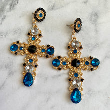 Load image into Gallery viewer, Cross Drop Earring