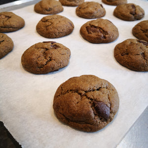 Black Garlic and Chocolate Chip Cookies