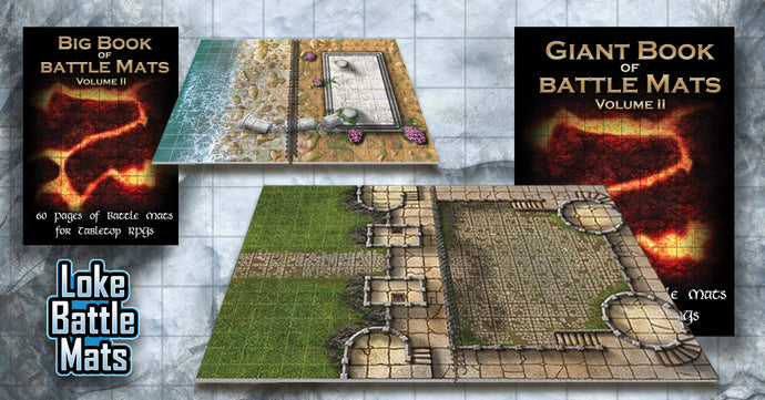 A Map for even more encounters! Volume 2 Big & Giant Books of Battle Mats released October 1!