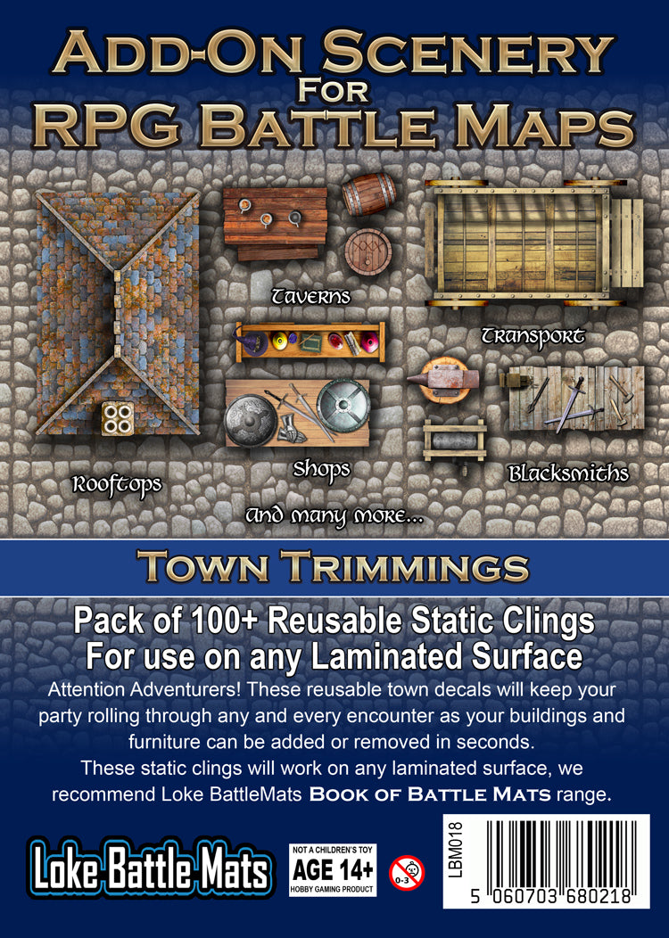 Add-On Scenery for RPG Maps - Town Trimmings