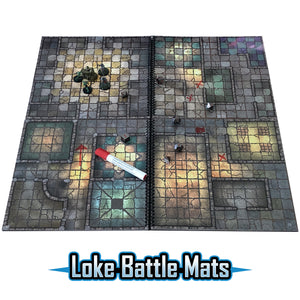 "The Dungeon Books of Battle Mats (Two book set. 12x12"")"