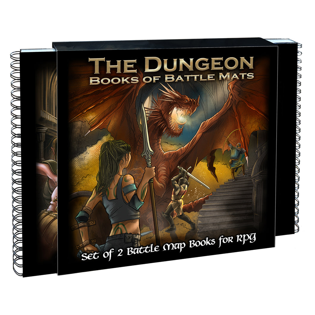 The Dungeon Books of Battle Mats (Two book set. 12x12