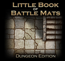 "Load image into Gallery viewer, The Little Book of Battle Mats - Dungeon Edition (6x6"")"