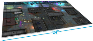 Preorder Giant Book of CyberPunk Battle Mats - A3 - Ships July