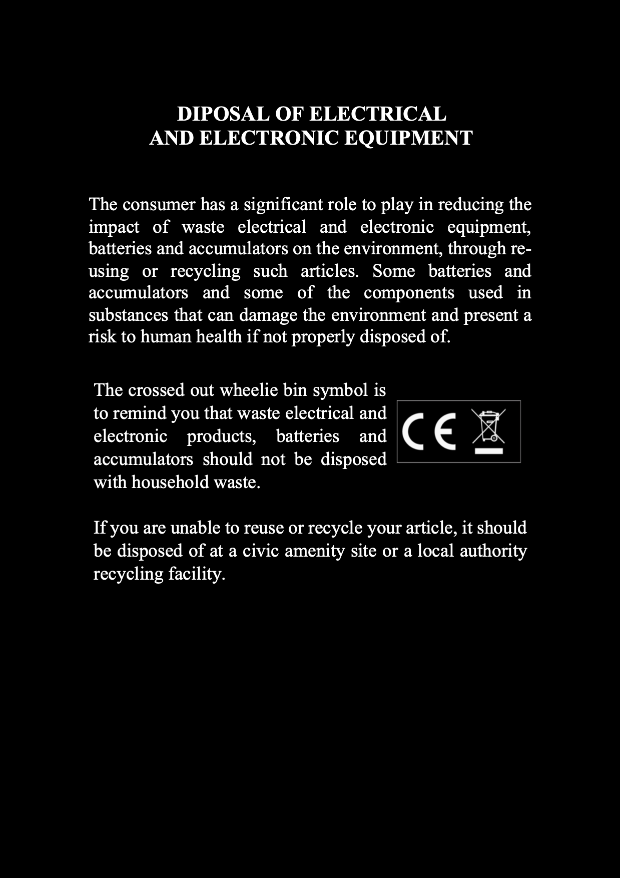 Heritage Watch - Dicci instructions and warranty