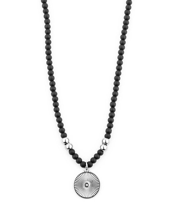 Natural Beads Necklace with Hispan Coin Pendant