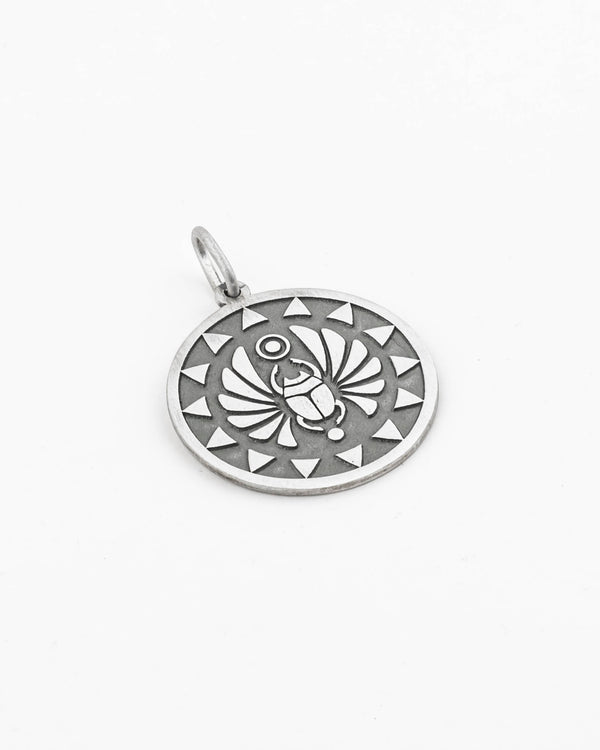 925 Sterling Silver Pendant - Egyptian Scarab