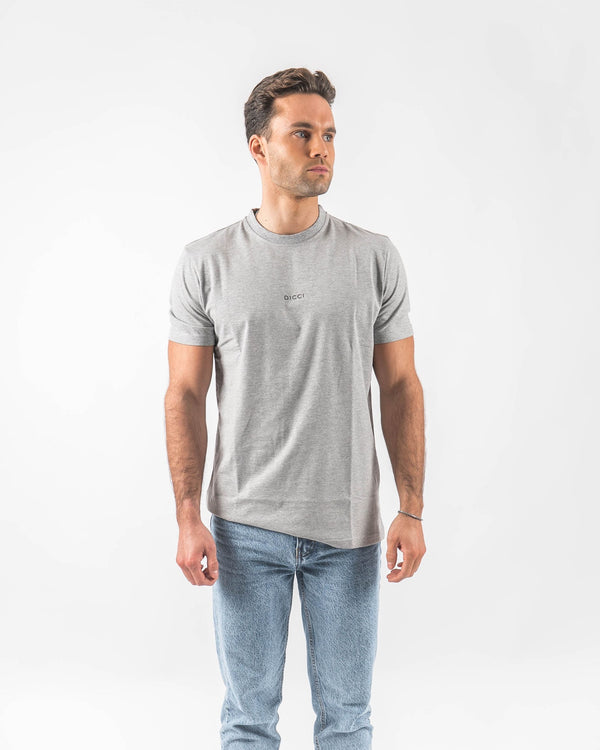 Logo Embroided Grey T-shirt