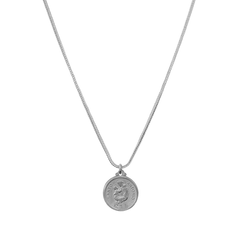 925 Sterling Silver Necklace - St Anthony