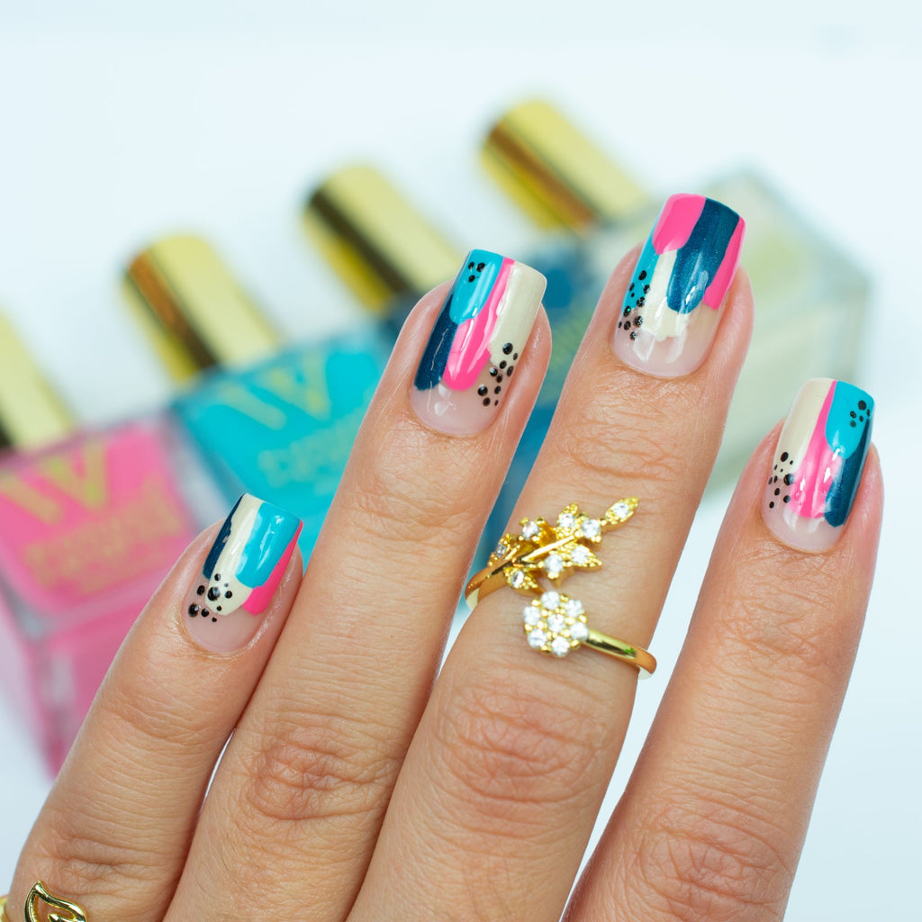 Abstract Nail Art Design