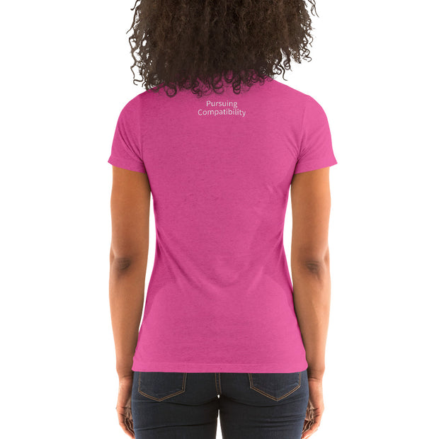 Ladies' short sleeve t-shirt - Pursuing Compatibility