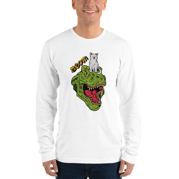 Dinosaur and Cat Long sleeve t-shirt - Pursuing Compatibility