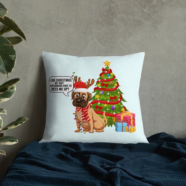 Christmas Dog Dressed Up Premium Pillow - Pursuing Compatibility